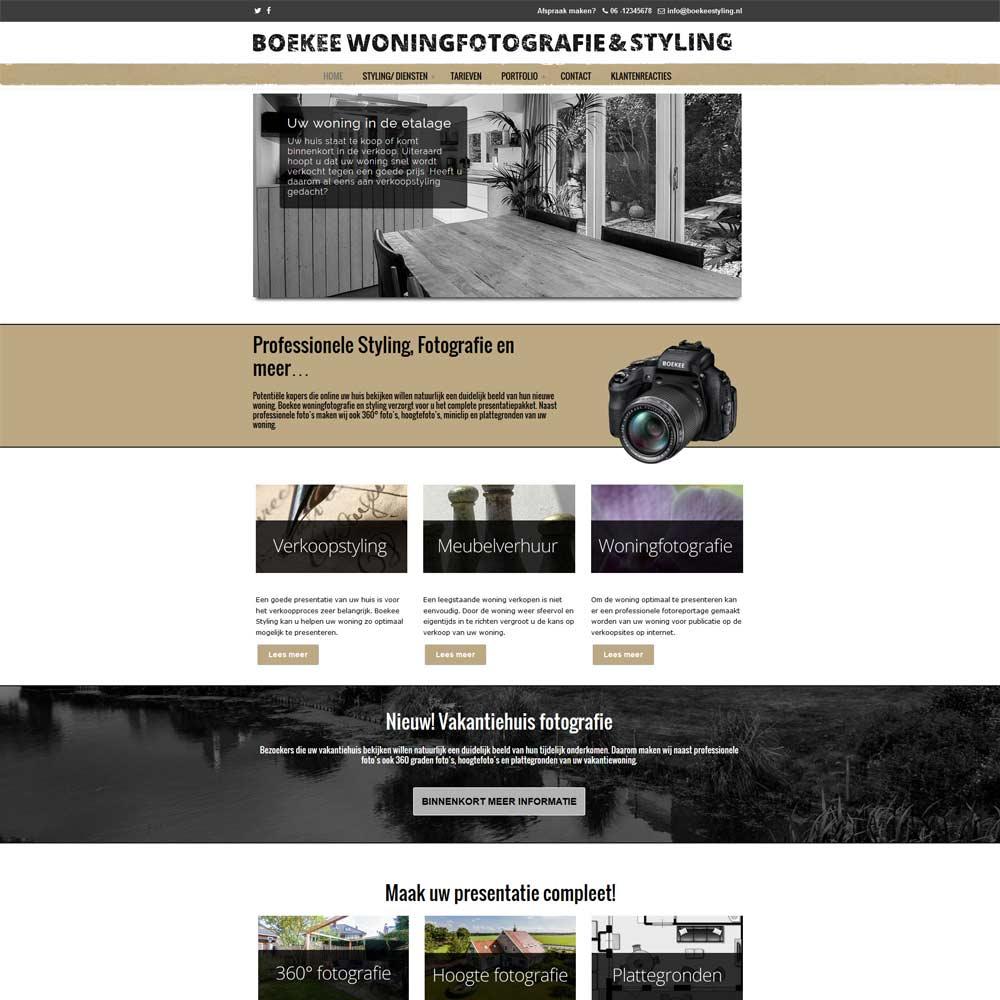 Nieuwe website boekeestyling